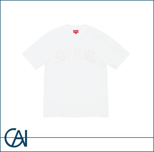 Supreme【シュプリーム】Chenille Arc ロゴTシャツ クルーネック ホワイト white Lサイズ【新品】
