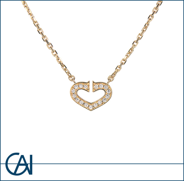 Cartier 【カルティエ】 Cハートオブカルティエ ダイヤモンド ネックレス 【USED】