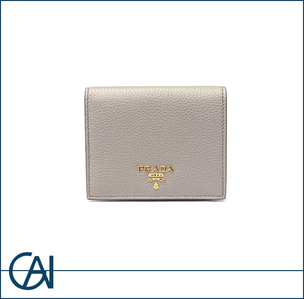 PRADA【プラダ】 サフィアーノ コンパクト 二つ折り 財布 【USED】